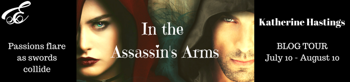 In The Assassin's Arms Blog Tour Banner